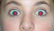 Ojos rojos por Flash