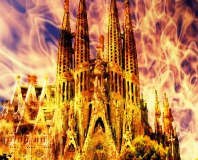 Un perturbado intenta quemar la Sagrada Familia de Barcelona