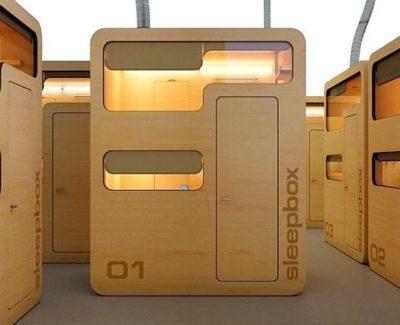 SleepBox, la caja para dormir en aeropuertos