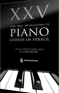 "XXV Concurso Internacional de Piano ""Cidade de Ferrol"""