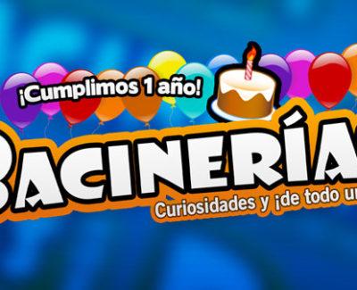 ¡Bacinerias.com cumple su primer año en internet!
