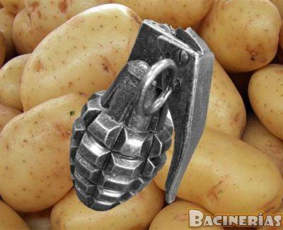 Encuentra una granada explosiva entre un kilo de patatas (Cádiz)