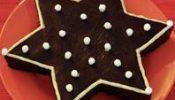 pastel de chocolate estrella