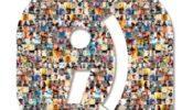 El mosáico que compone el logo está formado por fotos de los usuarios que han participado en la creación del CD.