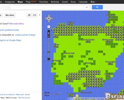 Google Maps en 8-bit como broma del April Fools' Day