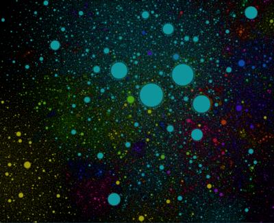 El universo de Internet representado en un mapa galáctico