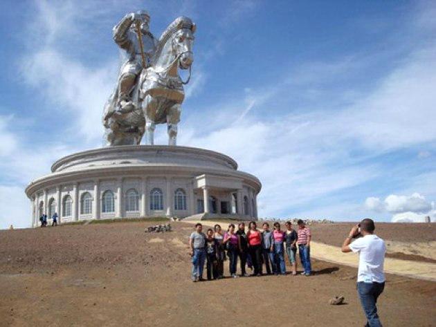 Gengis Khan en Mongolia
