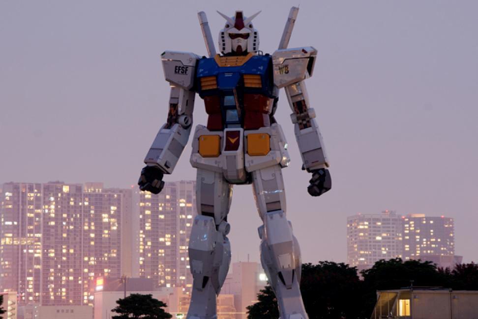 Transformer gigante (Tokio, Japón).
