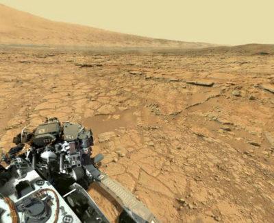 Una gran panorámica del paisaje de Marte con visión de 360 grados