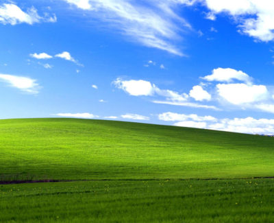 El origen de Bliss, el fondo de pantalla de Windows XP
