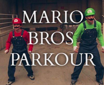 ¡Super Mario y Luigi en la vida real hacen Parkour!