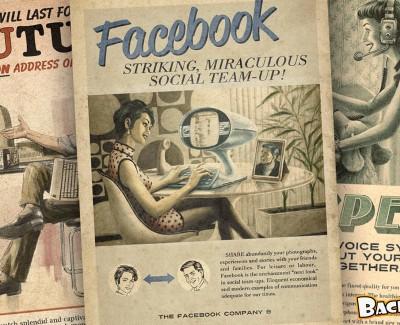 Así serían los anuncios de las redes sociales en los años cincuenta