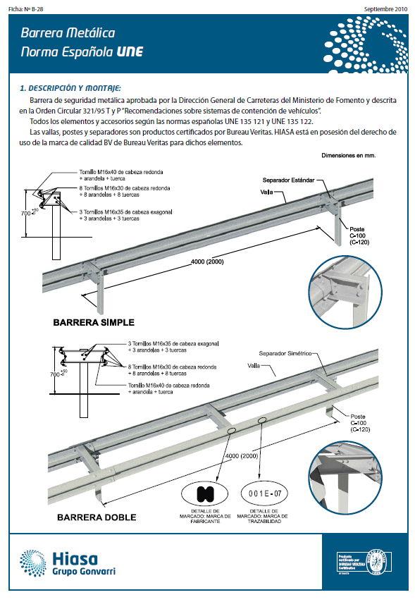 Road roller system las nuevas barreras de protecci n en - Vallas de proteccion ...
